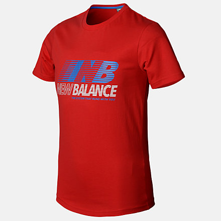 New Balance Boys Speed Tee, ABT03503REP image number null