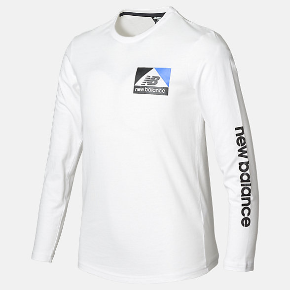New Balance Boys Athletics LS Tee, ABT93511WT