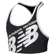 New Balance Girls Training Crop, Black with White