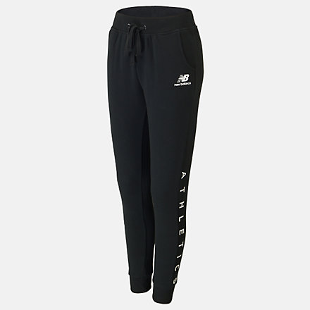 New Balance Girls Essentials Icon Sweat Pant, AGP01506BK image number null