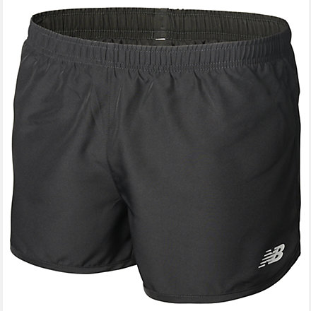 New Balance Girls Woven 3 inch Short, AGS73396BK image number null