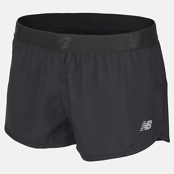 New Balance Girls 2 In 1 Short, AGS81100BK