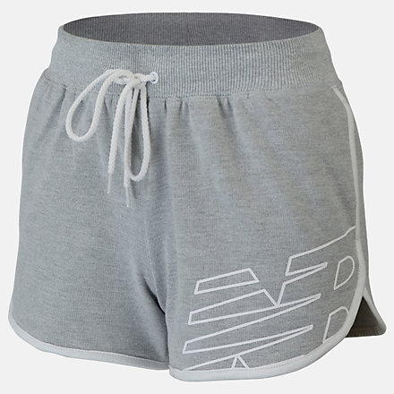 New Balance Girls Classic Sweat Short, AGS93507AG image number null