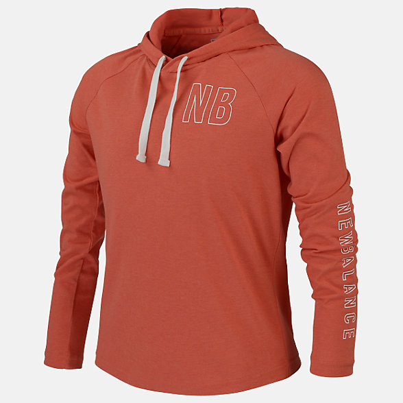 New Balance Girls Relentless LS Hoodie, AGT01203TOR