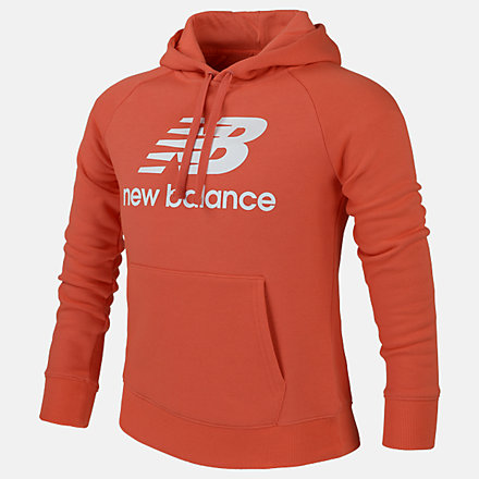 New Balance Girls Essentials Po Hoodie, AGT01501TOR image number null