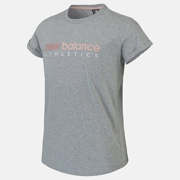 New Balance Girls Athletics Boyfriend Tee, AGT01505AG