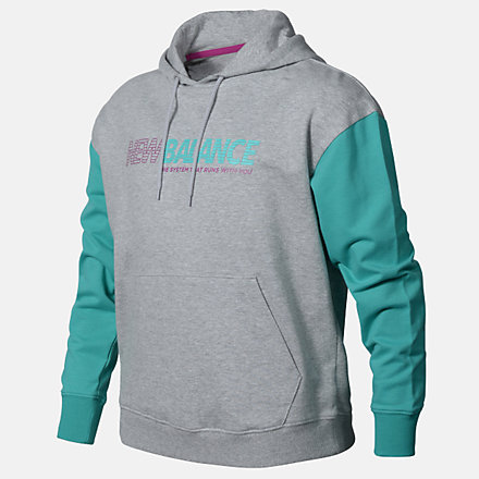 New Balance Girls Speed Hoodie, AGT03501AG image number null