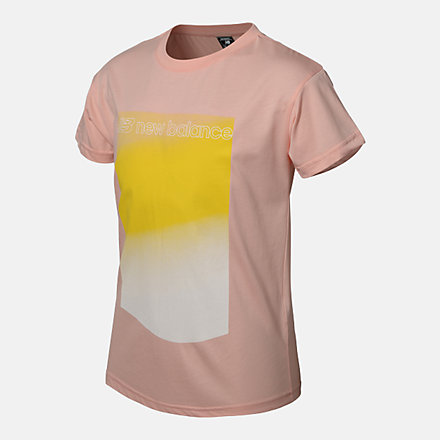 New Balance GIRLS OPTIKS GRADIENT PRINT TEE, AGT113159CDP image number null
