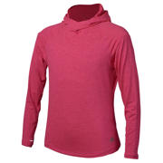 New Balance Girls In Transit Hoodie, Pomegranate Heather