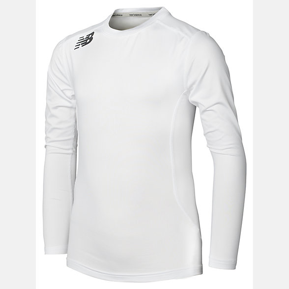 New Balance Teamwear Junior Compression Long Sleeve, EJT7003WT