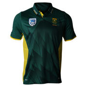 New Balance Proteas Junior Polo, Green with Yellow