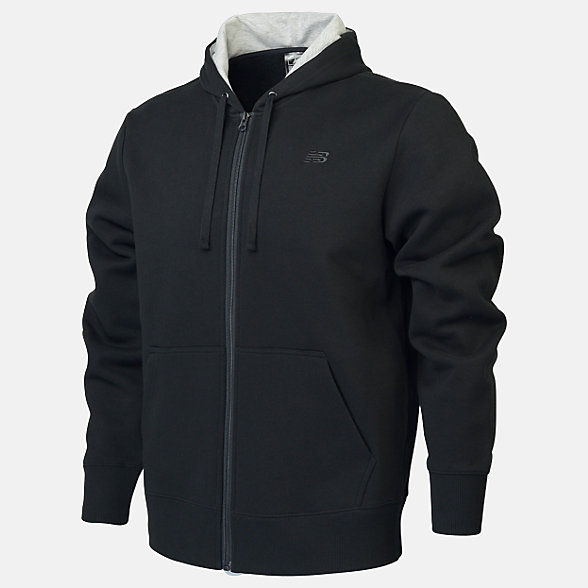 New Balance Fleece Full Zip Hood, RMJ0131BK