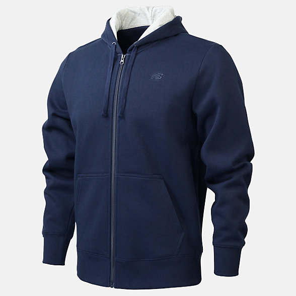New Balance Fleece Full Zip Hood, RMJ0131ECL