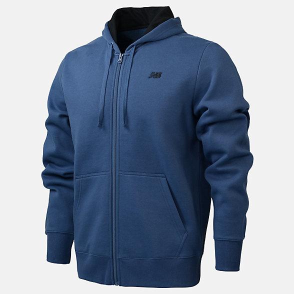 New Balance Fleece Full Zip Hood, RMJ0131SNB