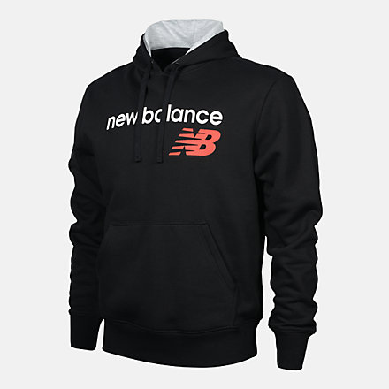 New Balance MENS PO HOODIE, RMT0224BK image number null
