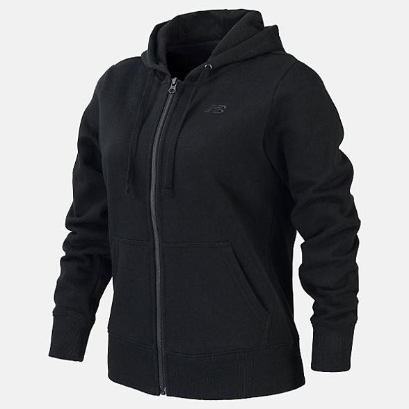 New Balance Fleece Full Zip Hood, RWJ0127BK