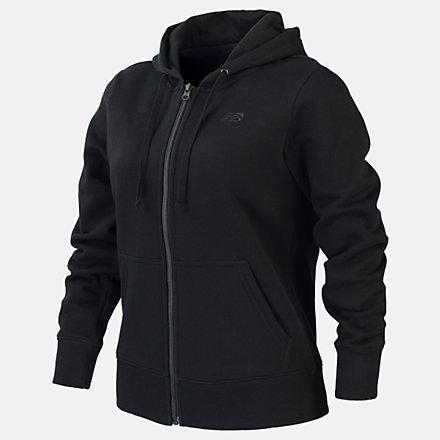 New Balance Fleece Full Zip Hood, RWJ0127BK image number null