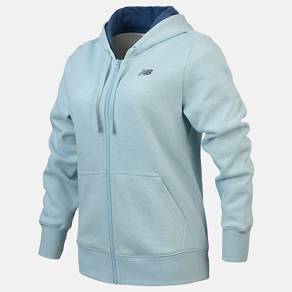 New Balance Fleece Full Zip Hood, RWJ0127DRZ