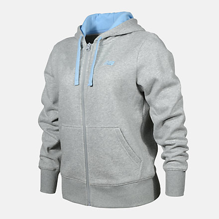 New Balance WOMENS FZ HOODIE, RWJ0221AG image number null