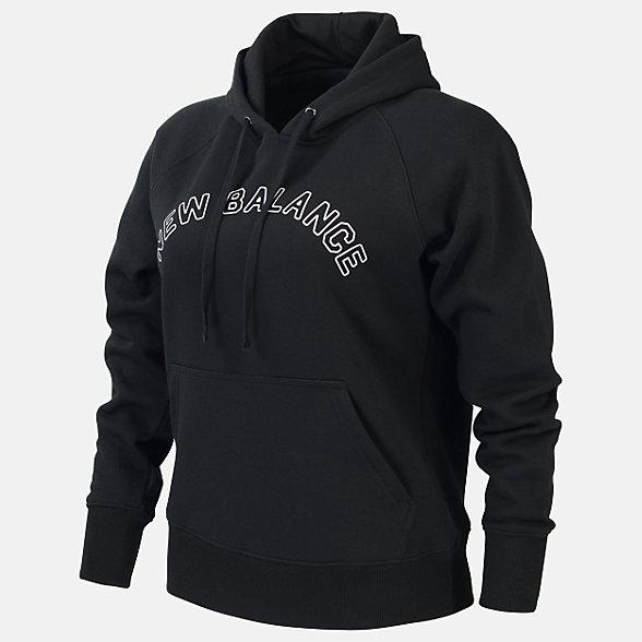 New Balance Fleece Hoodie, RWT0125BK