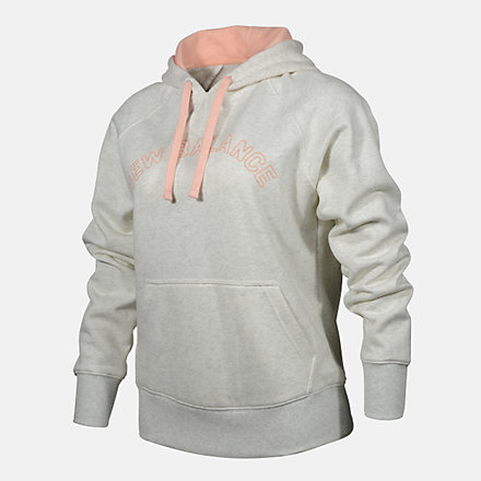 New Balance WOMENS PO HOODIE, RWT0220SST image number null