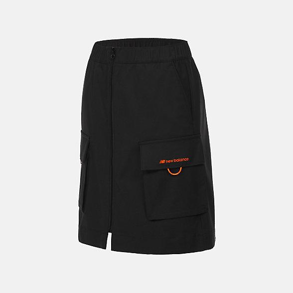 New Balance 女款休闲梭织短裙, AWK12308BK