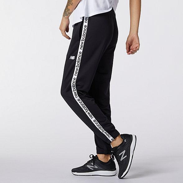 New Balance 女款印花徽标休闲裤, AWP11185BK