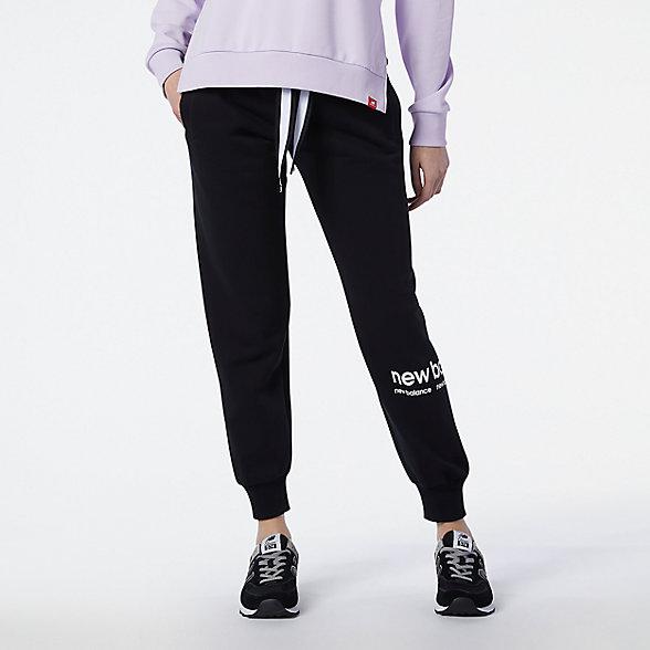 New Balance 女款针织长裤, AWP13510BK
