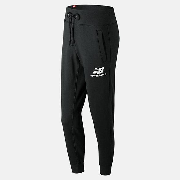 New Balance 女款束腰针织休闲长裤, AWP91545BK