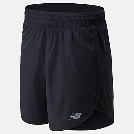 """New Balance Accelerate 5""""短褲, AWS01209BK image number null"""