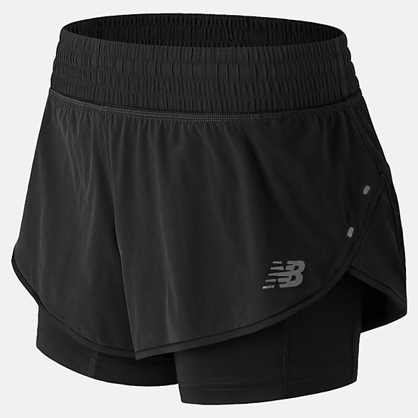 New Balance 女款速干运动梭织短裤, AWS81263BK