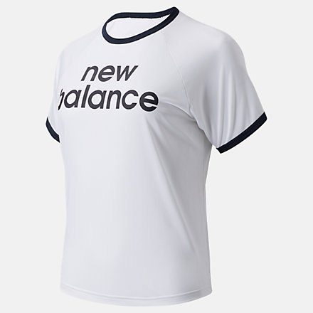 New Balance Achiever Graphic High Low Tee, AWT03175WT image number null