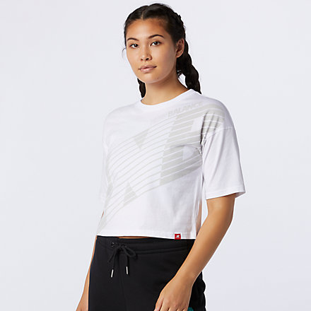 New Balance Essentials NB Speed Graphic Tee, AWT03510WT image number null