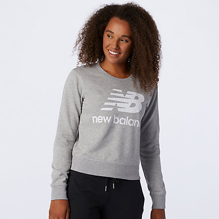 New Balance NB Essentials Crew Fleece, AWT03551AG image number null