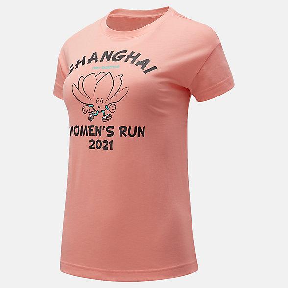New Balance 上海女子马拉松系列女款短袖T恤, AWT1103OPPR