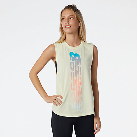 New Balance Relentless Cinched Back Graphic Tank, AWT11172LH1 image number null