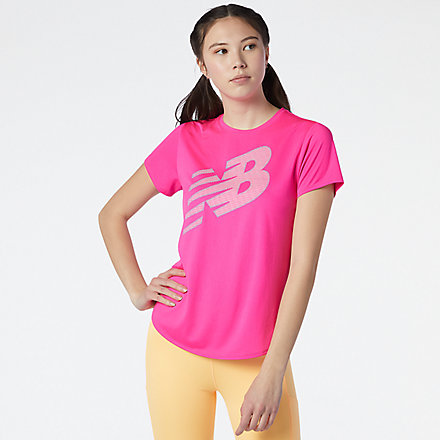 New Balance Printed Accelerate Short Sleeve, AWT11221PGL image number null