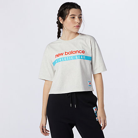 New Balance NB Essentials Field Day Boxy Tee, AWT11508SAH image number null