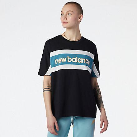 New Balance NB Athletics Higher Learning Oversized T恤, AWT13504BK image number null