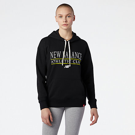 New Balance NB Essentials Athletic Club Hoodie, AWT13508BK image number null