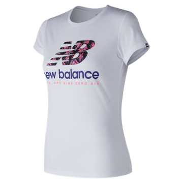 New Balance 运动T恤 女款 时尚LOGO 运动休闲, WT