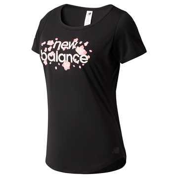 New Balance 上海女子跑赛事系列针织上衣女款 吸湿排汗 质地舒爽, BK