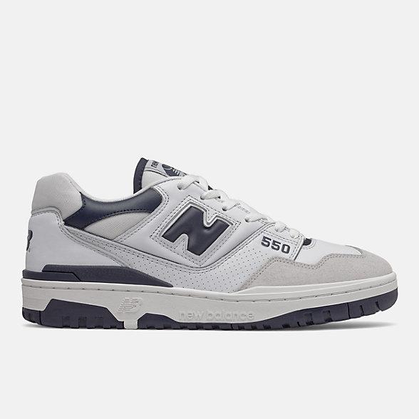 New Balance BB550系列男女同款复古篮球鞋板鞋, BB550WA1