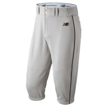 New Balance Charge Baseball Piped Knicker, Grey with Black