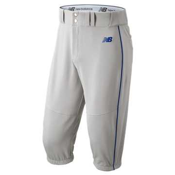 New Balance Charge Baseball Piped Knicker, Grey with Blue