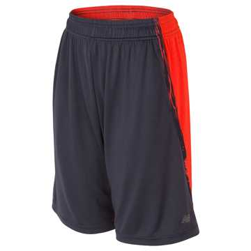 New Balance Fashion Performance Short, Thunder with Alpha Orange