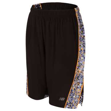New Balance Fashion Performance Short, Black with Flame