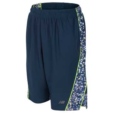 New Balance Fashion Performance Short, Basin with Lime