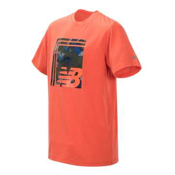 New Balance Short Sleeve Graphic Tee, Coral Glow