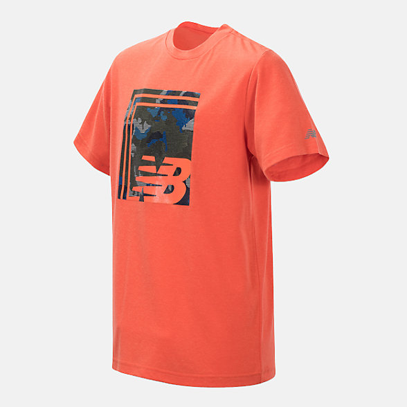 New Balance Short Sleeve Graphic Tee, BT10655COR